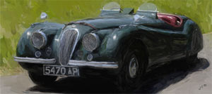 Jaguar XK120 painting
